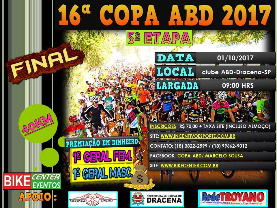Nova data - Final 16º Copa ABD Bike Center de MTB